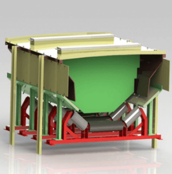 密封式导料槽 长度1500mm 带式输送机 天地西北煤机